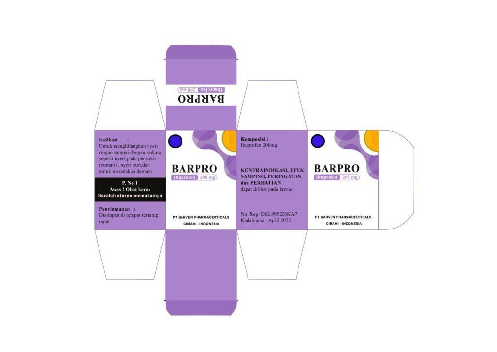 desain kemasan obat ibuprofen