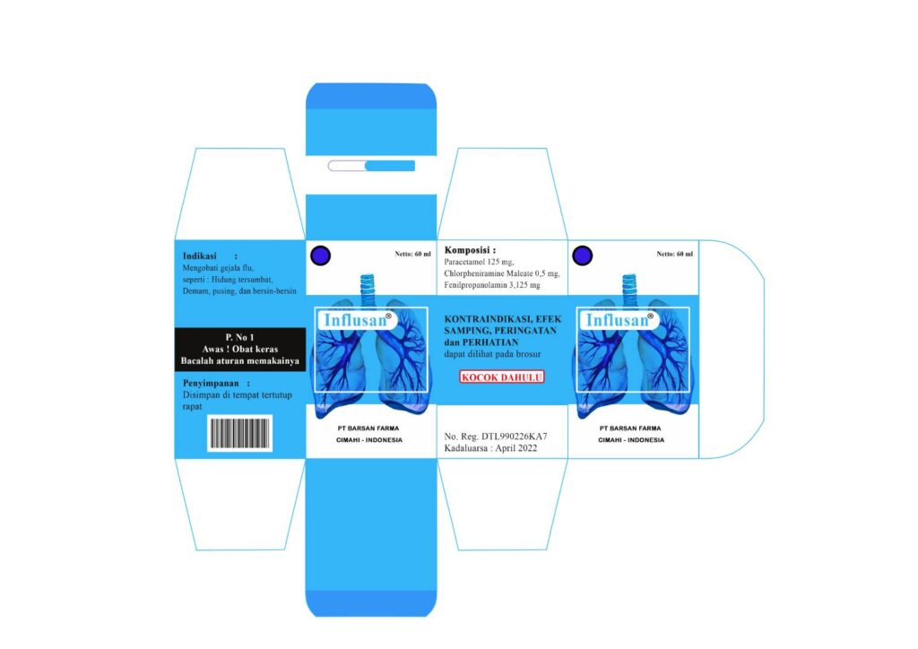 Contoh desain kemasan obat Flu