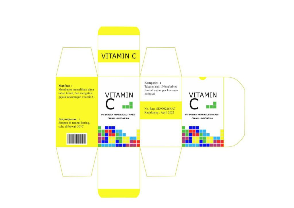contoh desain kemasan vitamin c